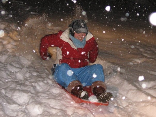 When all else fails, reconnect with your inner child and go sledding