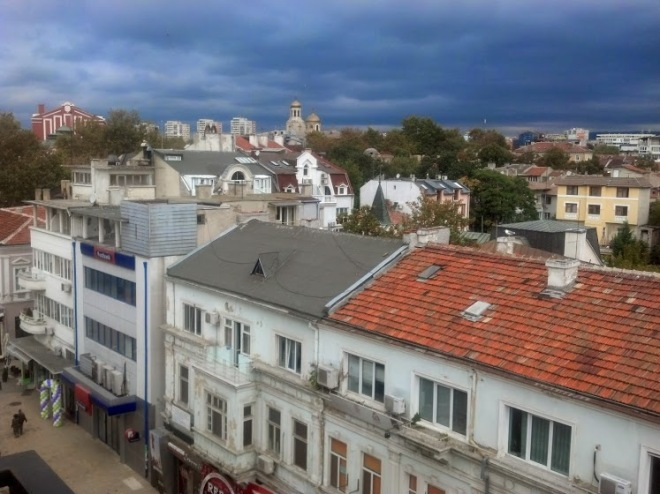 The rooftops of Varna as the monsoon approaches...