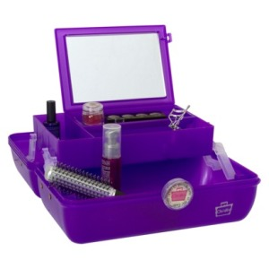 This a caboodle, the girl's equivalent of a tacklebox