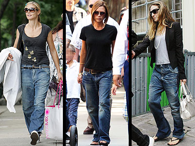 I do not look as cool as Victoria Beckham when I wear boyfriend jeans.