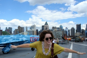 When we finally got to celebrate at the Intrepid, we made the most of it.