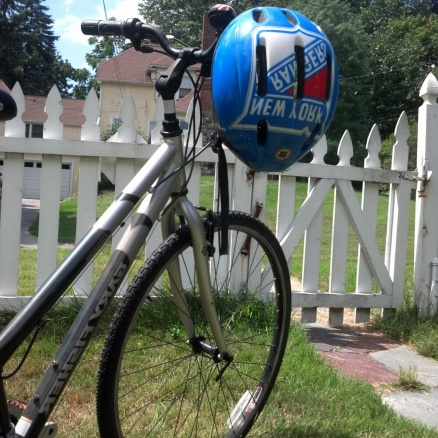 New helmet (NY Pride). revamped bike. Let's get riding.