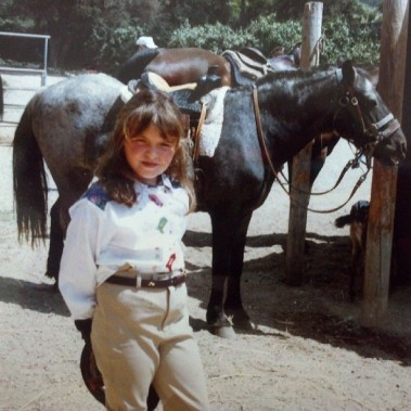 I always wanted a pony, and though I (thankfully) didn't get one, I did ride every weekend.