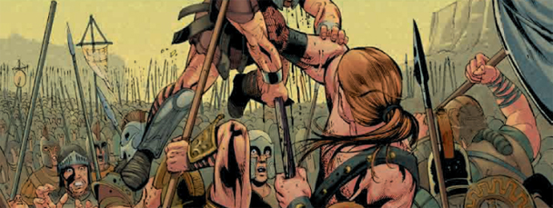 Isn't this the kind of story you want to read to your kid at night? I know I do. The Iliad as illustrated by Marvel...